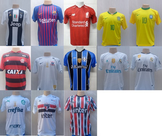 9 Camisetas Times Futebol Europeus Brasileiros Seleções