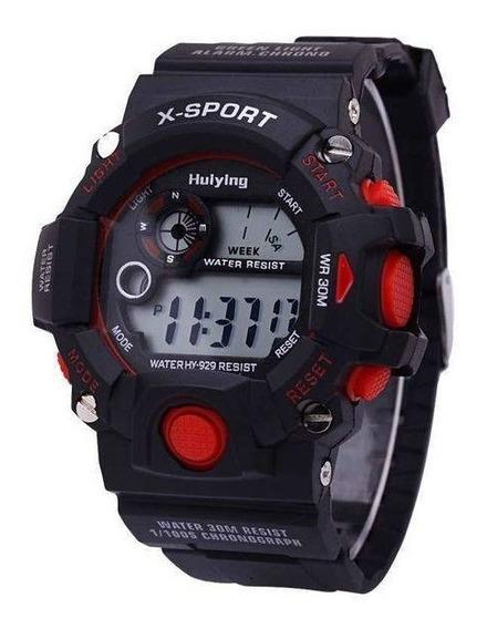 Relógio Masculino Sport Black Infantil Muito Barato.