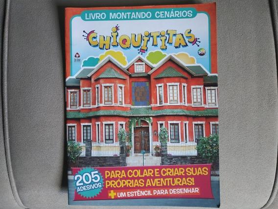 Livro Montando Cenários 205 Adesivos Chiquititas