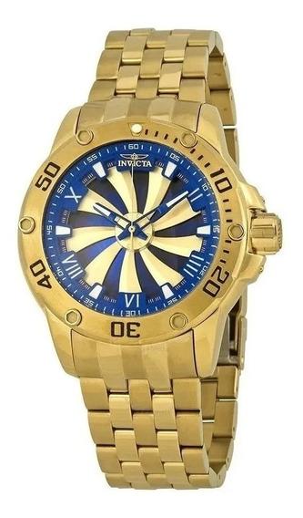 Relógio Rq421 Bv Preto Speedway Automático Dourado 18k Top