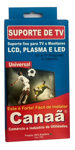 Imagem 1 de 3 de Suporte Tv Led, Lcd , Plasma Monitor De 10/70 Polegadas Fixo