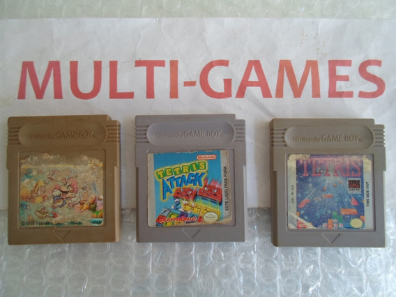 Tetris + Tetris Attack + Mario Land Originais Para Game Boy.