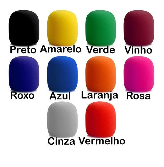 6 Espuma Filtro Microfones Pop Filter Colorido Bem Espessa