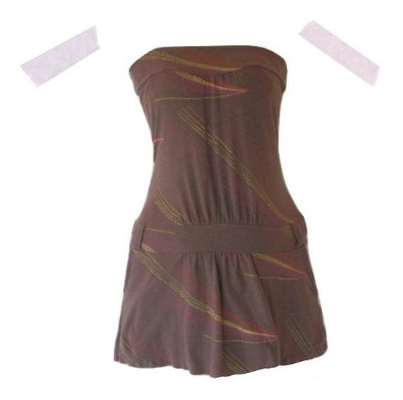 Mini Vestido Strapless Tennis