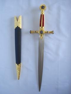 Espada Maçonica Adaga 55cm Ke4915rd-1