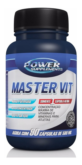 Polivitamínico A - Z Master Vit 90 Cápsulas Power Supplement