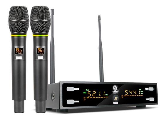 Microfone Profissional G-mark X320fm Karaokê Sem Fio