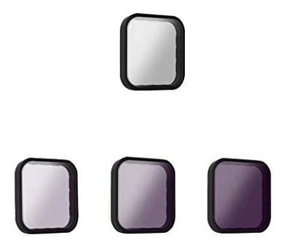 Imagen 1 de 8 de Filtro Telesin 4-pack Lente Nd8 Nd16 Nd32 Cpl Para Insta 360