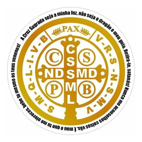 Adesivo Medalha São Bento 7x7cm E Nossa Senhora 12cm