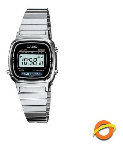 Reloj Casio La-670w Digital Acero Inoxidable Crono Timer Wr