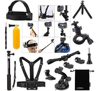 Kit De Accesorios Luxebell Para Camara De Accion Sony Hdr-as