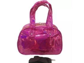 Bolsa Holográfica Pink Viagem Academia