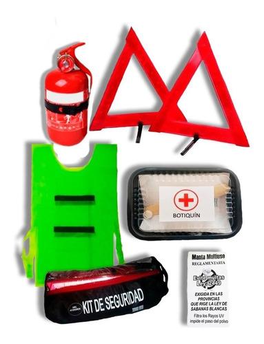 Imagen 1 de 10 de Kit Seguridad 6 En 1 Vehicular Auto Matafuego Econo Manta.