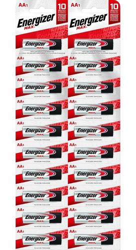 Imagen 1 de 6 de Pack 20 Pilas Alcalinas Energizer Max Aa Mayorista Oficial