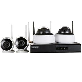 Kit Monitoramento Nvr4bd 4cam 2dome+2bullet 1nvr Wi-fi Hd1tb