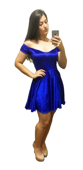 Vestido Feminino Rodado Godê Em Veludo 4040