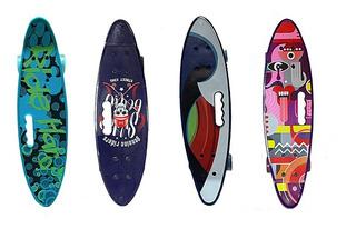 Patineta Tabla Skate Mini Long Board Llantas Goma Nuevo