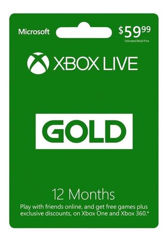 Xbox Live Gold 12 Meses  Codigo Digital