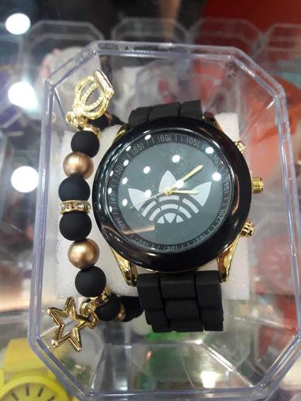 Kit Relógio E Pulseira