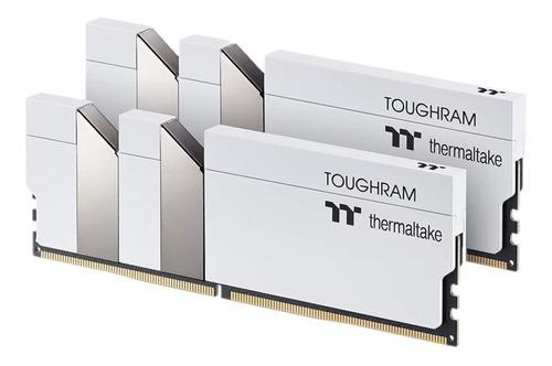 Imagen 1 de 4 de Memorias Ram Thermaltake Toughram White 3200mhz 16gb 2x8