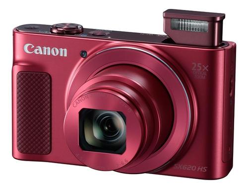 Canon PowerShot SX620 HS compacta cor  vermelho