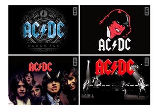Placa Decorativa A4 Rock Internacional Vários Artistas