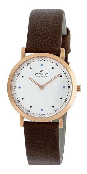 Relógio Feminino Rosegold Slim Social Oslo Ofrscs9t0007 S1nx