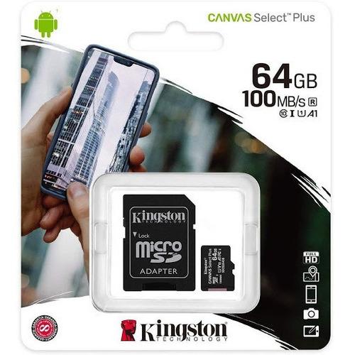 Memoria Celular Kingston Microsd 64gb Clase 10 - Factura A B