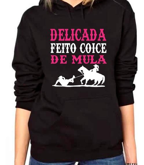 Blusa De Moletom Country Feminino Coice De Mula