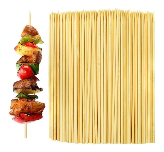 Palitos Brochette Pincho De Bambu 20cm X 100 Unidades Finger Food Catering