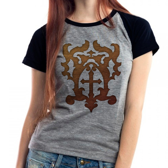 Camiseta Castlevania Belmont Série Raglan Babylook Mescla