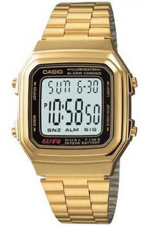 Relógio Casio Vintage Unisex A178wga-1adf Dourado