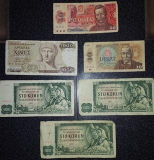 Lote Billetes Internacionales Y Nacionales - Rosario Envios!