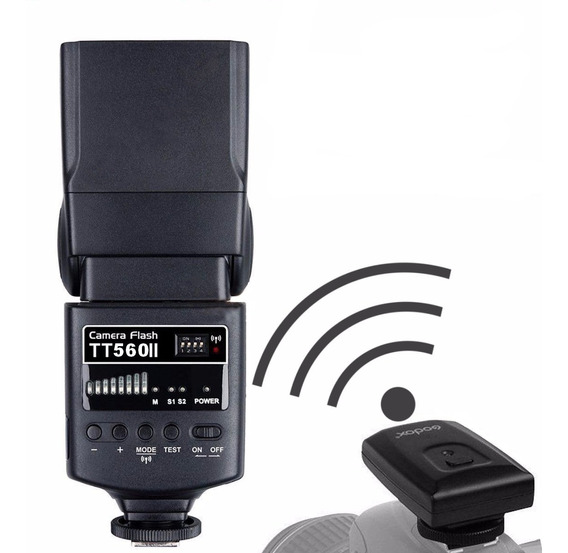 Flash Godox Tt560ii Universal +carregador+ Radio Flash (nfe