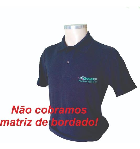 02 Camisa Polo Uniforme Empresa Bordado Logomarca
