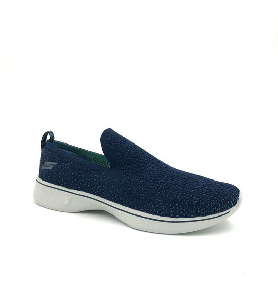 Tênis Sapatilha Skechers Feminino Go Walk 4 Gifted Azul