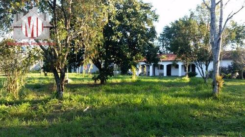 Chácara Com Escritura, Rica Em Água Com 02 Dormitórios À Venda, 18000 M² Por R$ 500.00 - Zona Rural - Pinhalzinho - Sp - Ch0483