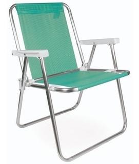 Sillon Playero Sannet 3/4 Mor Aluminio T Coversol Verde.