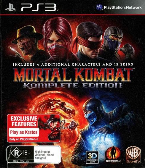 Mortal Kombat 9 Komplete Ps3 Psn Promoção