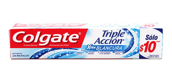 Colgate Crema Dental Triple Accion Whitening 50 Gr