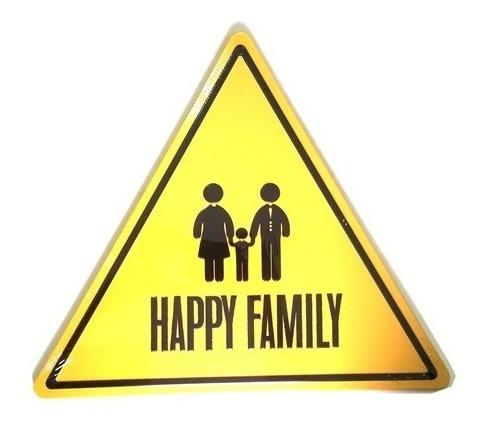 Placa Decorativa Happy Family Pl262