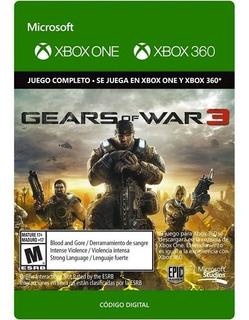 Gears Of War 3 Xbox One Y Xbox 360 Código Digital