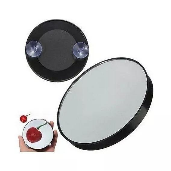 Espelho Antiembaçante Com Ventosa Aumento 5x