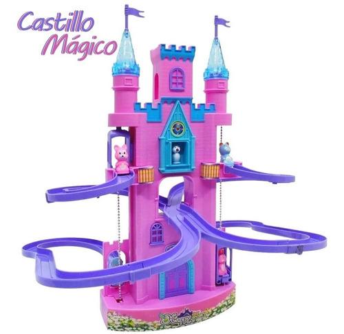 Castillo Interactivo Luz Sonido Infantil Nenas Sube Y Baja