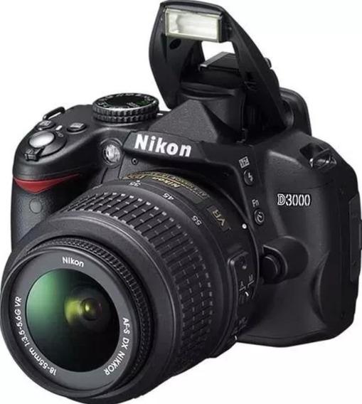 Câmera Nikon D3000 Com Lente 18-55mm Muito Nova