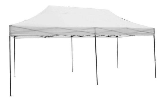 Tenda Gazebo Camping 6x3m Aço/poliéster Oxford Ntk Branca