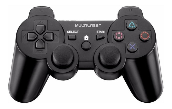 Controle joystick Multilaser JS030 preto