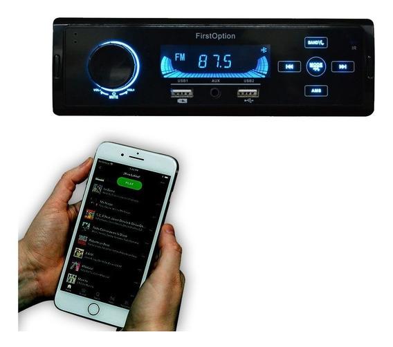 Som Automotivo Radio Mp3 Bluetooth Usb First Option 5560