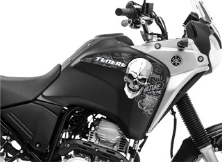 Adesivo Tanque Moto Yamaha Tenere 250 Caveira Grande 056