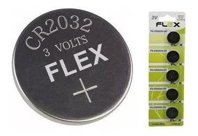 Bateria Moeda Cr 2032 3v Lithium Cartela C/ 5 Peças Flexgold